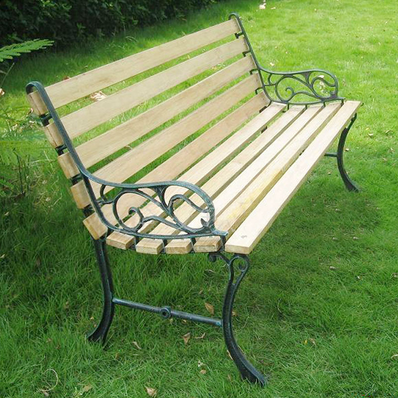 Outdoor furniture wood preservative Wrought iron outdoor bench
