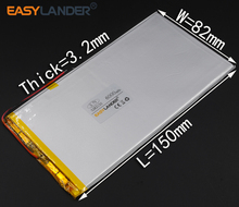3.2X82X150MM 3.7V 6000mAh Rechargeable li Polymer Li-ion Battery  For Power Bank Tablet PC Cell Speaker  MID electronics 3282150