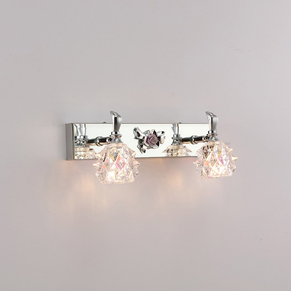 Bathroom Mirror Wall Lights Us 53 Modern Crystal Washroom Wall Light Chrome Contemporary Crystal Bathroom Mirror Wall Sconces Cheap Wall Lamp Whole Sales In Led Indoor Wall