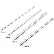 2pcs 6mm 8mm 10mm 12mm 16mm 8 400mm linear shaft 3d printer parts 8mm 400mm Cylinder Chrome Plated Liner Rods axis(China)