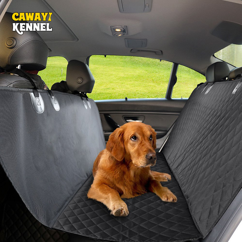CAWAYI KENNEL Mewah 600D Oxford PP Cottpn Binatang Anjing Cat Kereta Belakang bangku Kursi Anchors kalis air Non-slip Cover dengan Hammock U0957