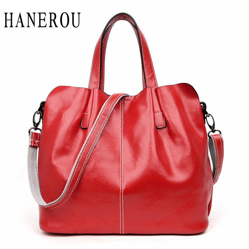 Fashion Genuine Leather Composite Bag Big Capacity Ladies Hand Bags High Quality PU Leather Women Shoulder Bags 2017 Sac A Main
