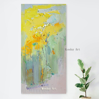 best arwork Handpainted Landscape Canvas Painting Abstract art Poster yellow Art Living Room Decor Seabirds Wall Pictures Decora