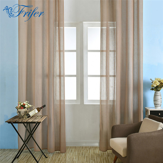 Modern Embroidered Polyester Sheer Curtain Living Room Bedroom Hotel Window  Decorative Tulle Curtains Fabrics White Blue Part 49