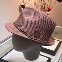 Straw Hat Women's Summer Sunhat England Casual Trendy Outdoor chapeau Cap