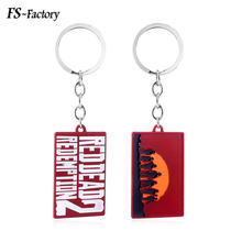Game Red Dead Redemption 2 Keychain Letter Logo 3D Gun Model Key Chains for Men Car Keyring Chaveiro Jewelry Gift(China)