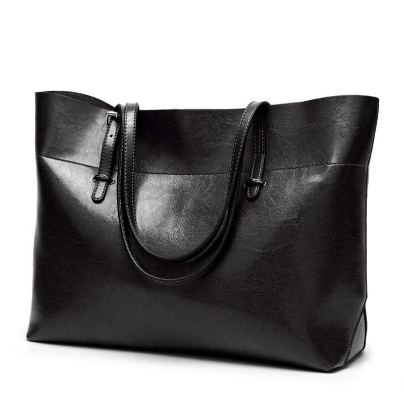 Vintage Genuine Leather Tote Shoulder Bag for Women Satchel Handbag with Top Handles 1