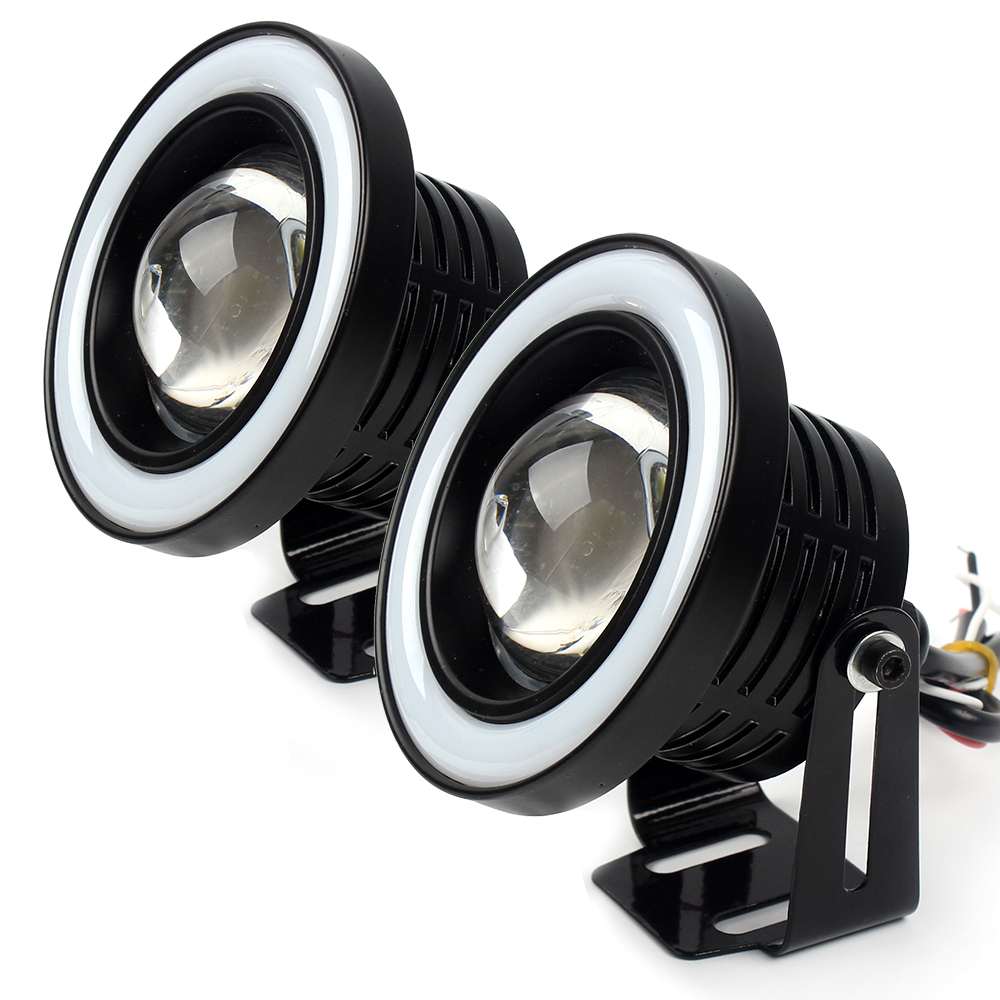 1 Pair Car Fog Lamps Car Accessories Angel Eyes Daytime Running Lights Light Source Car-styling Car DRL Colorful Universal COB ccfl 55w car angel eyes projector fog lamps pair 12v