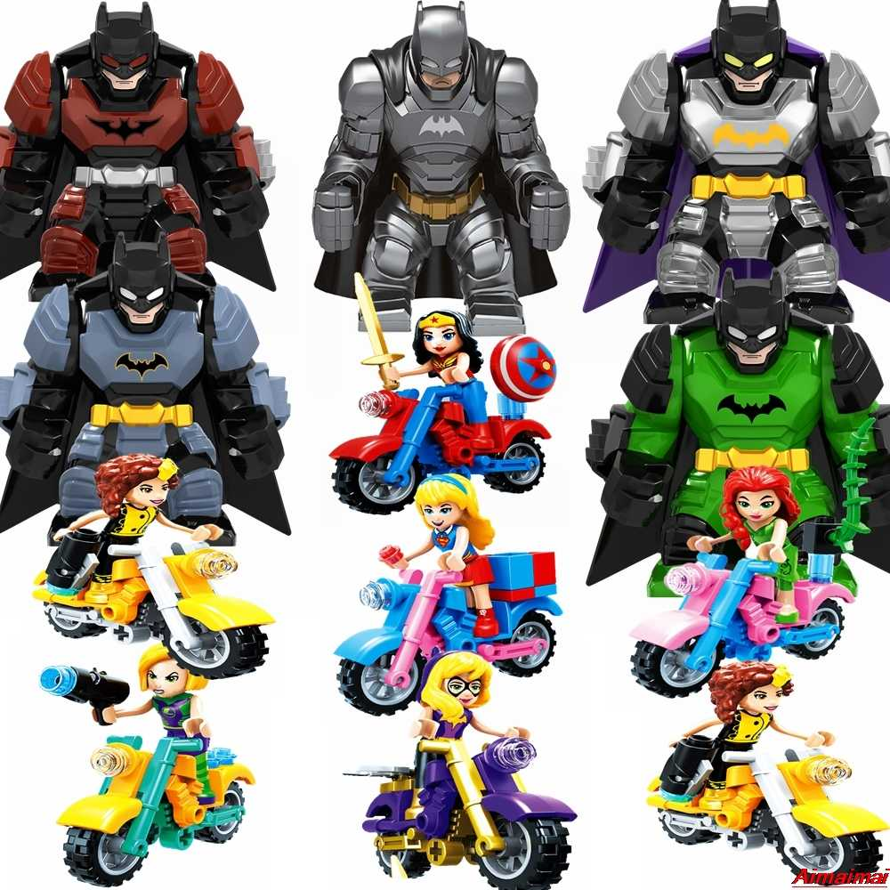 Legoings Marvel Super Heroes Series Avengers Batman Movie Figures Action Model Building Blocks Toys Superhero Iron Man Spiderman