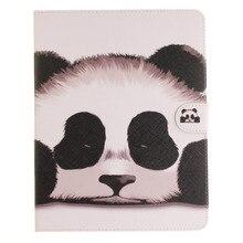 Panda padrão pu de couro do caso da aleta para apple ipad air1 2 ipad mini2 3 4 iPad2 3 4 pro Caso Estande Frete Grátis