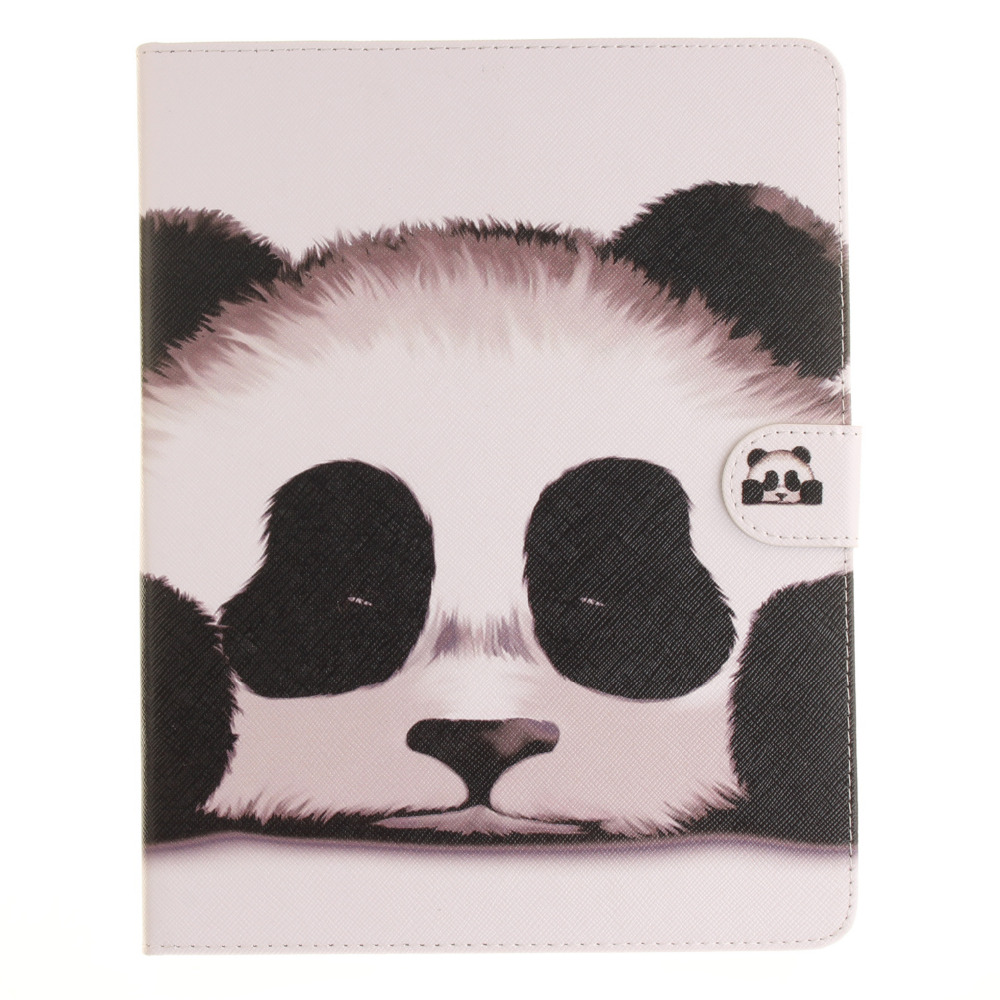 Panda Pattern PU Leather Flip Case for Apple iPad air1 2 iPad mini2 3 4 iPad2 3 4 pro Case Stand Case Free Shipping