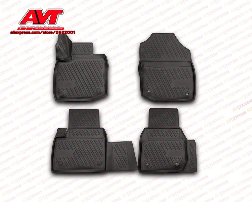 Tapis de sol cas pour Honda Civic 5D 2012-hayon 4 pcs en caoutchouc tapis antidérapant en caoutchouc intérieur car styling accessoires