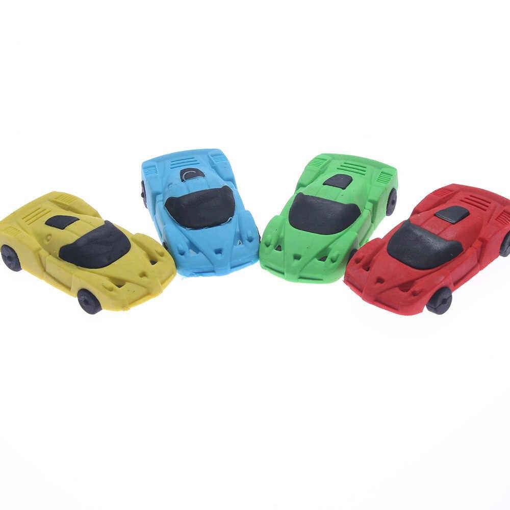 Baru 3D Mobil Kecil Karet Penghapus Kawaii Kreatif Alat Tulis Sekolah Kantor Perlengkapan Hadiah untuk Anak-anak Mainan Anak