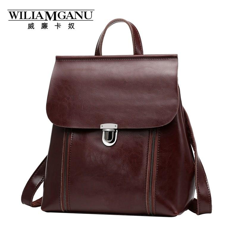 wiliamganu marca mochila mulheres genuíno Marca : Wiliamganu
