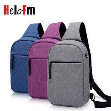 HeloFrn Colorful Crossbody Bag Men Women Chest Travel Casual Shoulder Couple Earphone Hole Cell Phone Pocket Purple Gray
