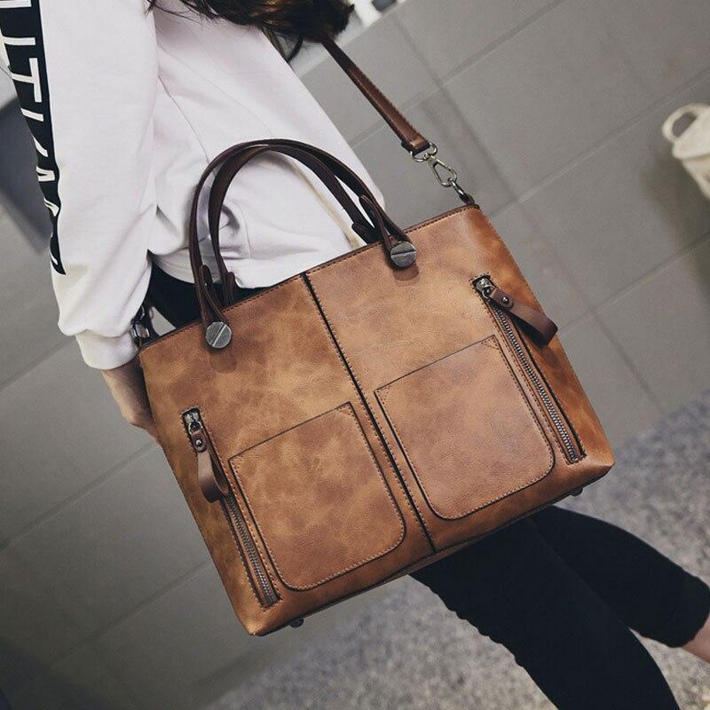 Luxury font b Women b font Leather font b Handbag b font Red Retro Vintage font