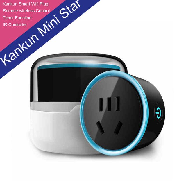 Nueva moda kankun kankun inteligente wifi enchufe USB mini estrella a inalámbrico interruptor de control remoto inteligente mediante el uso de teléfono app