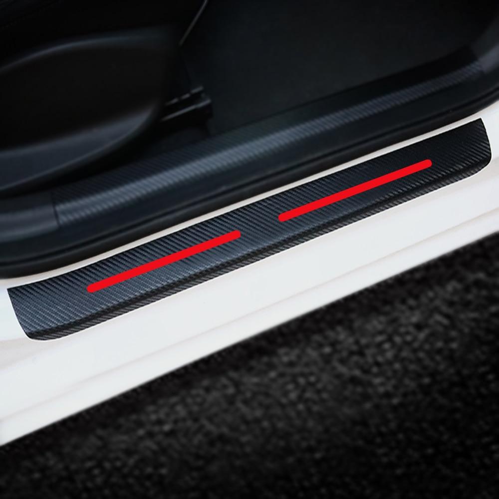 For Mazda 3 6 CX 5 323 5 CX5 2 626 CX 7 GG CX3 CX7 Car Door Sill Scuff Plate 4D Carbon Fiber Car Stickers Auto Part 4Pcs in Car Stickers from Automobiles Motorcycles