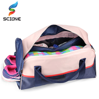 Hot Outdoor Luggage Bags Sports Gym Bag For Women Waterproof Foldable Fitness Training Shoulder Bag Large Tourist Travel Handbag 3