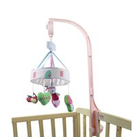 2016 New Rotating Bed Bell Music Baby Toys Cute Pink Rabbit Newborn Multifunctional Christmas Gift 0