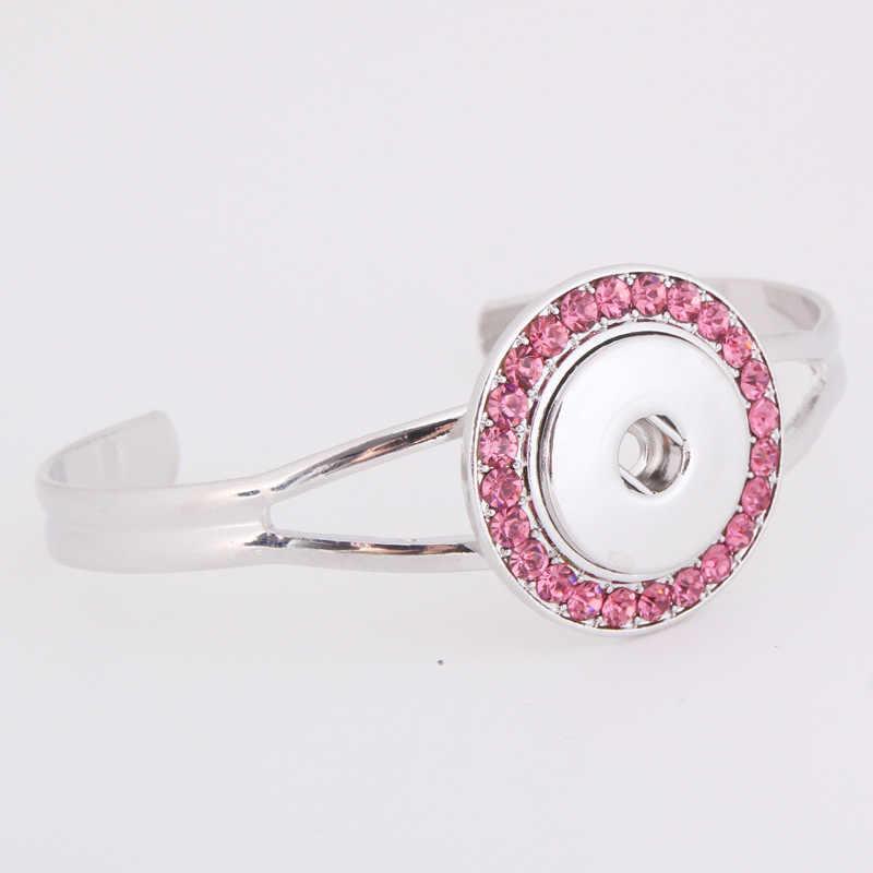 Bella strass snap braccialetto braccialetti adatti diy 18mm snap bottoni braccialetti con ciondoli gioielli bottoni monili della fascia da polso