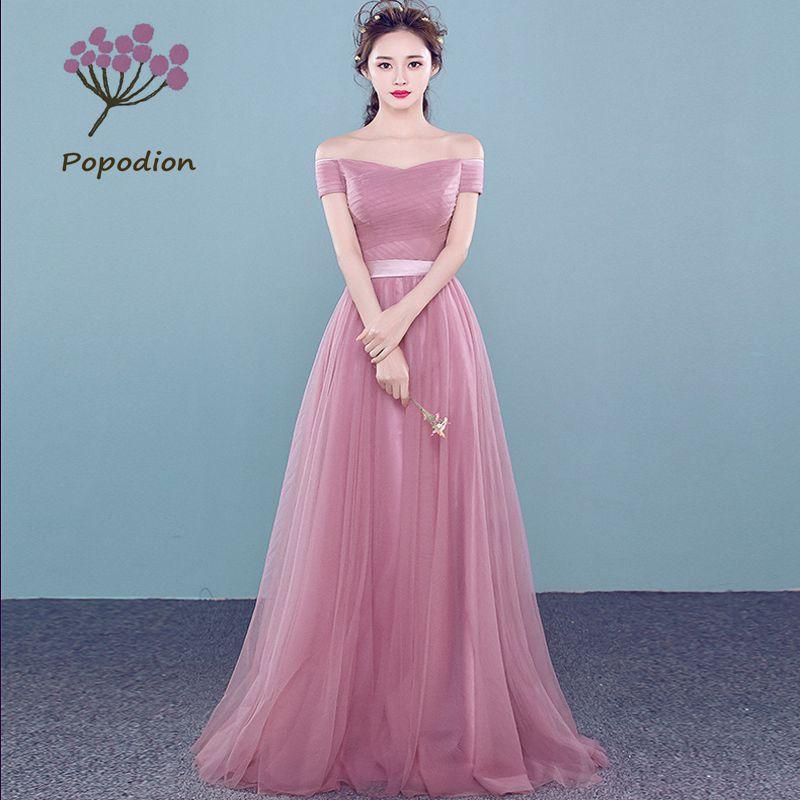 Online Get Cheap Vestido De Noche De Color Rosa Con Encaje ...