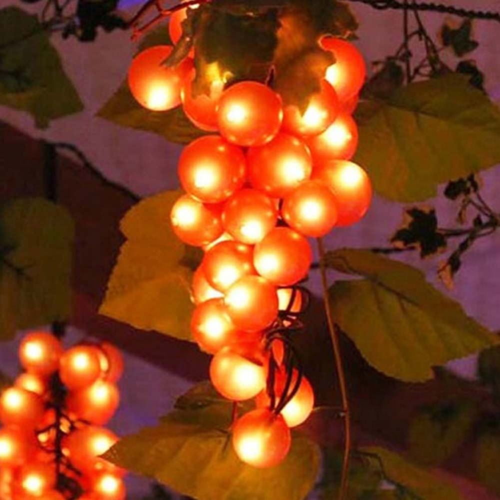 Outdoor String Lights Grapes : led Christmas decoration for home Fairy Light Wedding string Lighting Grape fruit10m 90leds ...