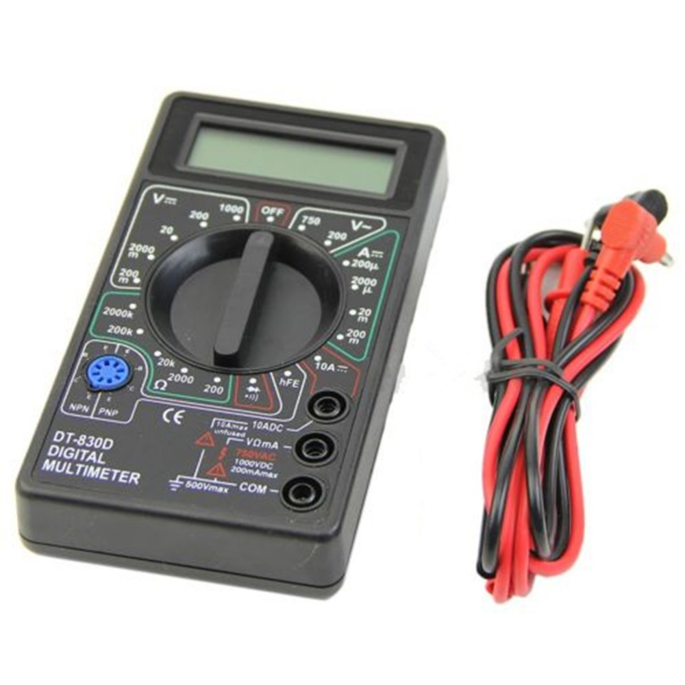 1pc Mini 9v Digital Multimeter Voltmeter Ammeter AVO Meter DT830D LCD Display Free Ship
