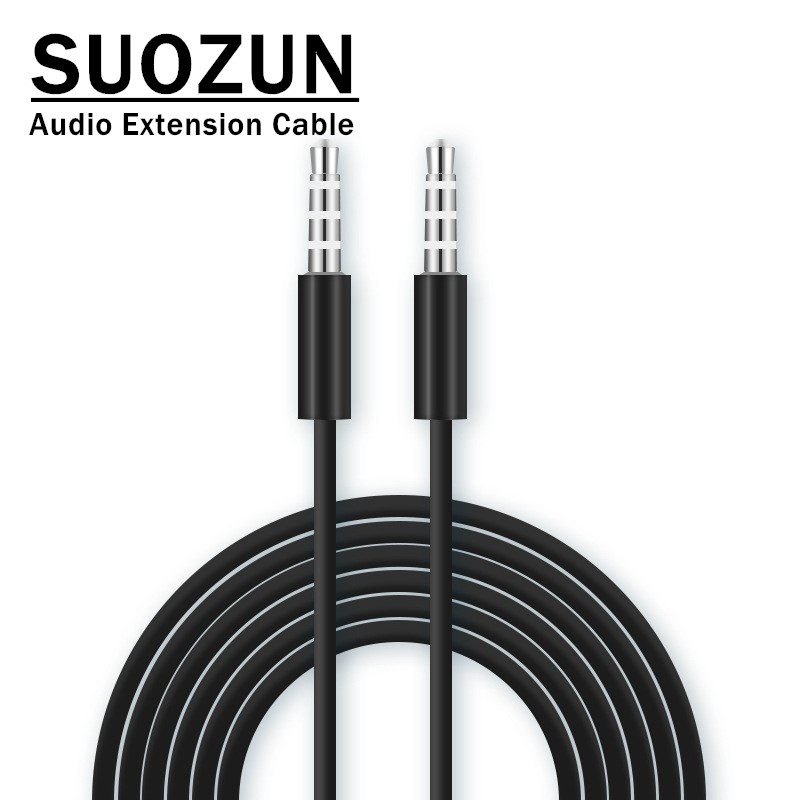 SUOZUN Audio Cable 3.5mm Speaker Line Aux Cable for iPhone 6 Samsung galaxy s8 Car Headphone redmi 4x Audio Jack