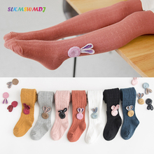 SLKMSWMDJ Spring Autumn New Childrens Pantyhose Cartoon Baby Leggings Girls Dolls Suitable for 1-7 years old 7 colors