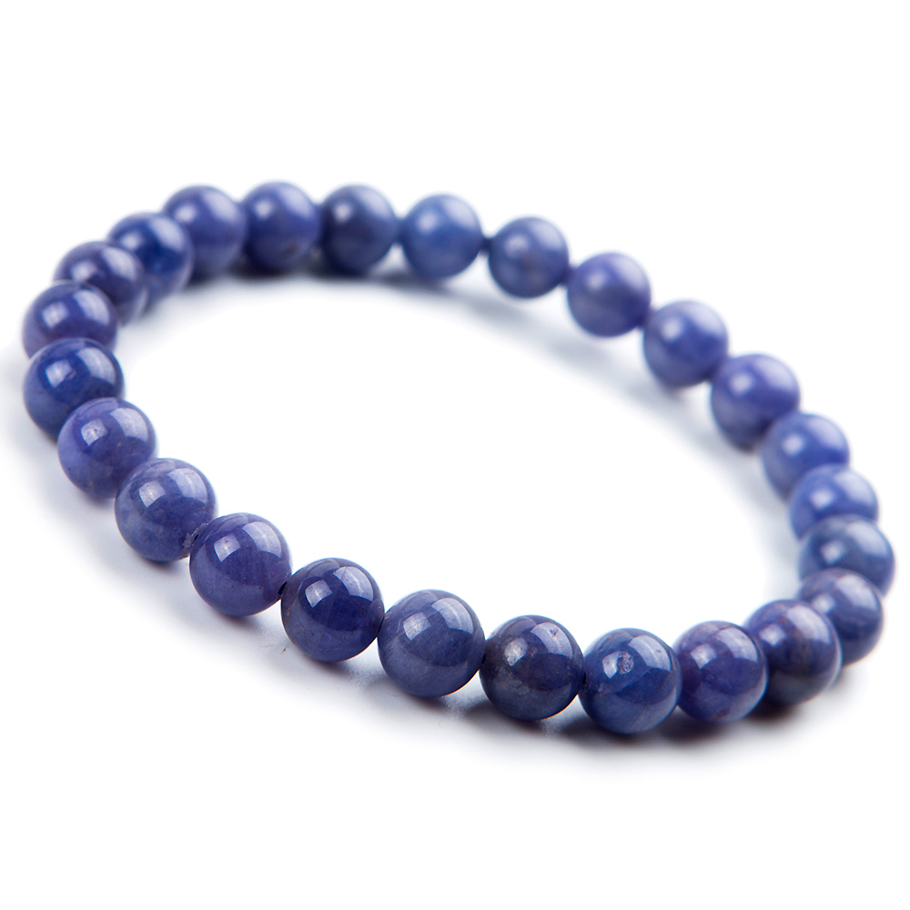100% Natural Tanzanite Blue Gemstone Bracelet Round Beads 7mm Stretch Woman Beads Femme Man Crystal Birthday GiftAAAAA100% Natural Tanzanite Blue Gemstone Bracelet Round Beads 7mm Stretch Woman Beads Femme Man Crystal Birthday GiftAAAAA
