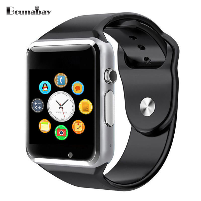 BOUNABAY Smart watches for man Bluetooth Multi-lingual function Watch Men Clock Android ios phone wifi 3 G M Chronograph Clocks bounabay multi lingual smart bluetooth bracelet watch for women touch watches android ios phone ladies waterproof lady clock