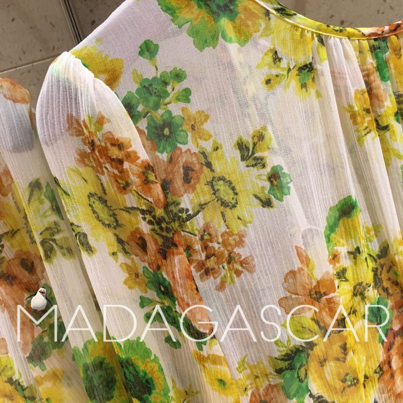 49a5d38e938d7 US $108.0  2018NEW high quality fashion design Yellow tiered ruffle  irregular floral print midi silk dress from -in Dresses from Women's  Clothing on ...