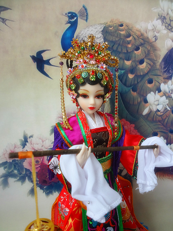 12 Handmade Chinese Dolls Vintage Girl Doll Traditional Opera Dolls For Collection Girl Toys Christmas Gifts 377 Free Shipping tang dynasty shangguan wan er 12jointed doll 31cm high end handmade chinese costume dolls limited collection bjd 1 6 moveable