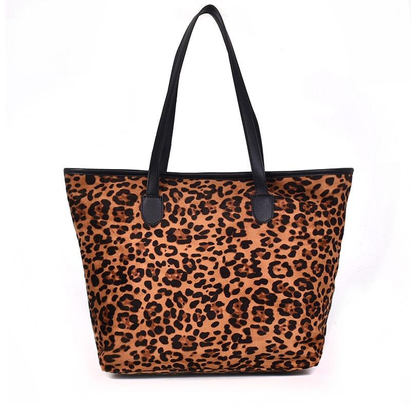 ed2bba116ae3 Vintage Leopard Print Large Capacity Handbags Women 2018 Fashion Winter  High Quality Faux Fur Shoulder Messenger Bag Big Totes