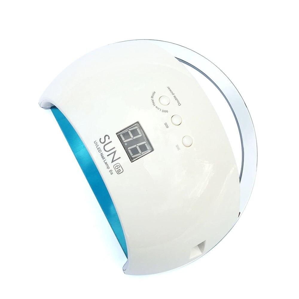 УФ-лампа для ногтей SUN6s 48 Вт, светодиодная лампа для ногтей с автоматическим датчиком, ЖК-дисплеем, Сушилка для ногтей, Гель-лак, машина для отверждения инструментов для дизайна ногтей