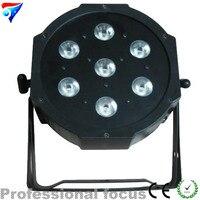 Fast Shipping DMX LED Flat Par 7X12W RGBW LED PAR 7 Channels Disco Par Light Free