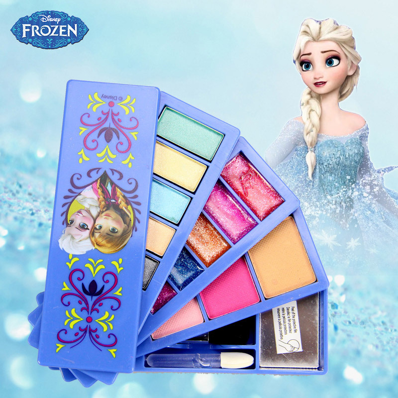 Beauty & Fashion <font><b>Toys</b></font> 2019 Disney Frozen Child Cosmetic Set <font><b>Girl</b></font> <font><b>Toy</b></font> Makeup Box <font><b>House</b></font> Eyeshadow Blush Play Makeup <font><b>Toys</b></font> image