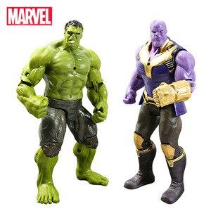 Image 1 - 16cm Marvel Avengers Toy Thanos Spiderman Hulk Iron Man Captain America Thor Ant man Action Figure Toys Model Dolls For Kids