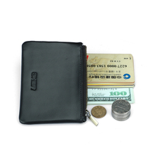 cow genuine leather coin slim men zipper short wallet small minimalist high quality letter money bank thin business Purse