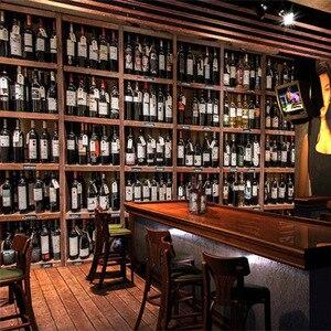 3D обои в европейском стиле, современные деревянные винные бутылки, деревянные винные стойки, фотообои, фотообои для кафе, бар, ресторана, обои на стену