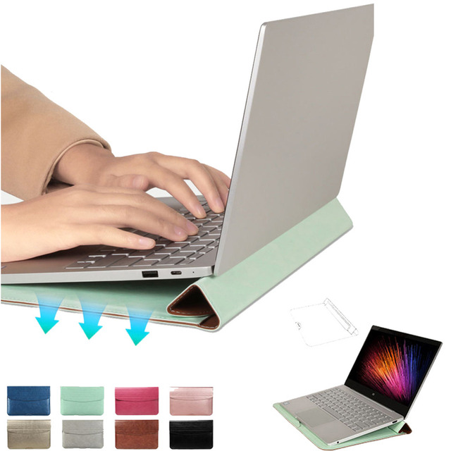 11 12in Laptop Sleeve Bag Case Multifunction Pouch For Macbook Air For Pro Retina 11 12in Ultra-thin Magnetic Cover For Samsung