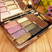Shiny Eyeshadow Naked Palette with Dual Stereo Eyebrow Powder Natura Brighten Cosmetics Beauty Tools Portable maquiagem sombra