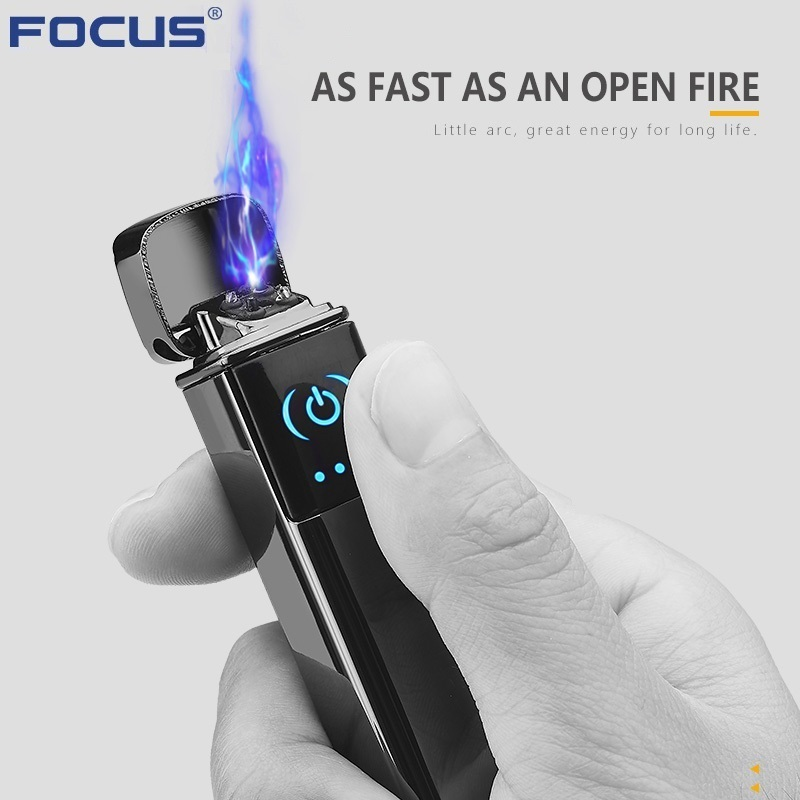 2019 Smart Touch USB Electronic Lighter Cigarette Dual Arc Plasma Lighter Windproof Touch Ignition Turbo Cigar Lighter Men Gifts