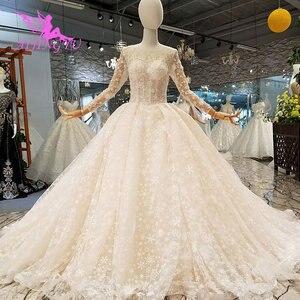 Image 4 - AIJINGYU מודרני חתונה שמלת שמלות תחתוניות קיץ נישואי בציר מברשת כלה שמלות כלה