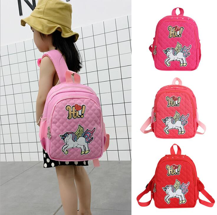 New Girls Unicorn Schoolbag Kindergarten Bag Lovely Preschool Children Small Backpack
