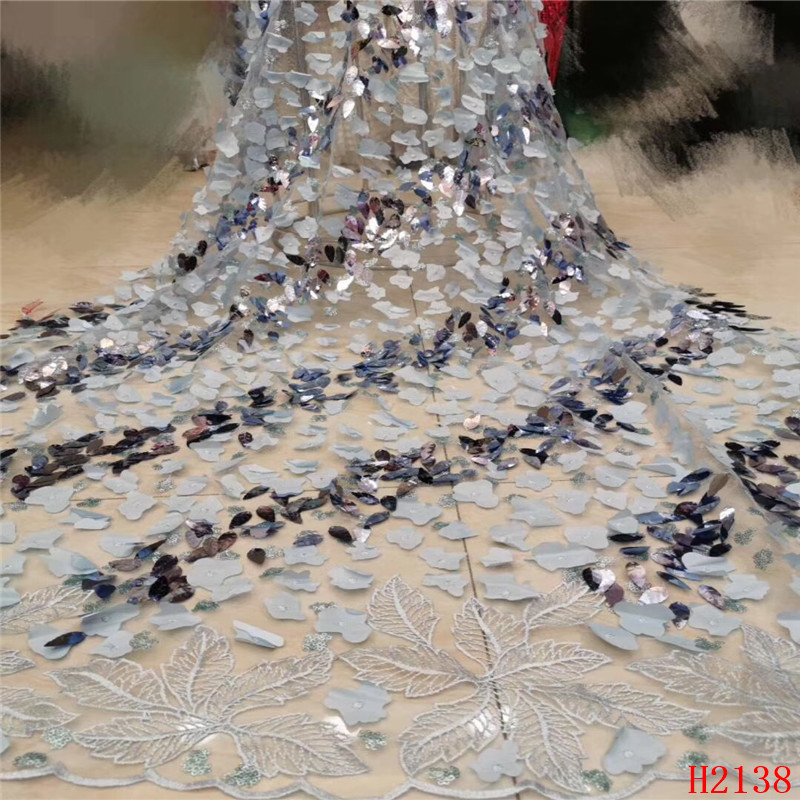 Latest French Nigerian Laces Fabric 2019 High Quality Tulle African Laces Fabric Wedding Sequins lace fabric HJ2138-1Latest French Nigerian Laces Fabric 2019 High Quality Tulle African Laces Fabric Wedding Sequins lace fabric HJ2138-1