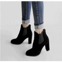 Kjstyrka botas botines mujer 2018 mulheres quentes Botas moda casual salto Alto 6 cm mulheres Botas Senhoras Ankle Boots bota feminina