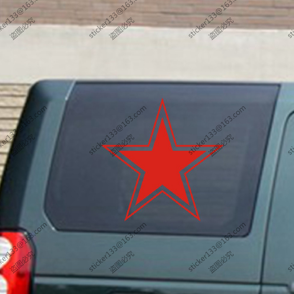 Bumper sticker design tips - Russian Air Force Ussr Red Star Soviet Vinyl Car Decal Bumper Sticker China Mainland