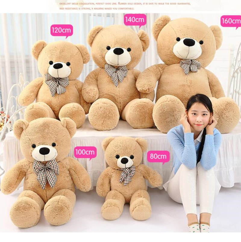 2016 New Stuffed Toys Kawaii Giant Teddy Bear Kids Toys Doll Cheap Sweater Bear Cloth Dolls 47in&55inch Best Gifts for Kids new violence bear momo bearbrick gloomy bear popobe spiderman vinyl toys 10 inch 25cm